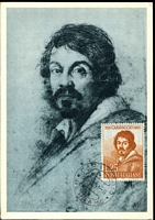 Lot 24503:1961 Maxi Card with 25L Michelangelo Caravaggio tied by 1961 Bergamo cds.