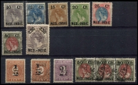 Lot 26079 [2 of 2]:Netherlands Indies: Selection comprising 1883 Number set, 1900 surcharge set to 2.50G and 1892 set to 2.50G few faults but nice group mainly mint. (25)