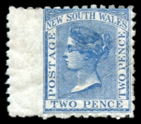Lot 947:1882-97 Wmk 2nd Crown/NSW SG #225 2d Prussian blue.