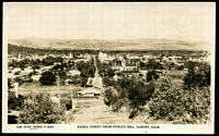 Lot 988:Albury (2): Black & white PPC 'Kiewa Street from Poole's Hill, Albury NSW', real photo, unused.  PO 1/2/1847.