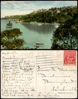 Lot 1232:Cremorne: - Multicoloured PPC 'Cremorne, Mosman's Bay, Sydney'.  Renamed from Watersleigh PO c.-/8/1923; closed 9/8/1971.