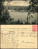 Lot 66:Australia - New South Wales: Black & white PPC 'Parkesvale, Georges River, NSW'.