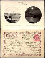 Lot 69:Australia - New South Wales: Black & white PPC 'Naval Depot, Garden Island, Sydney Harbour' and 'A Moonlight Scene on Sydney Harbour'.