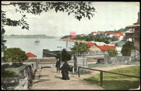 Lot 73 [1 of 2]:Australia - New South Wales: Multi-coloured PPC 'Lavender Bay Sydney NSW'.