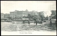 Lot 74:Australia - New South Wales: Black & white PPC 'Circular Quay, Sydney'.
