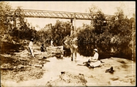 Lot 382 [1 of 2]:Australia - Northern Territory: Black & white PPC 'Railway Bridge over Adelaide River Northern Territory', real photo.