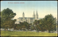 Lot 396 [1 of 2]:Australia - South Australia: Multi-coloured PPC 'St Peters Cathedral, Adelaide'.