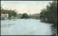 Lot 81 [1 of 2]:Australia - South Australia: Multi-coloured PPC 'Boating Torrens Lake, Adelaide'.