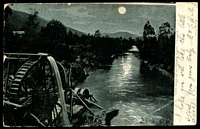 Lot 72 [1 of 2]:Australia - Victoria: multicoloured PPC 'Gold digging on Ovens River, Victoria' unusual night scene, early card with undivided back.