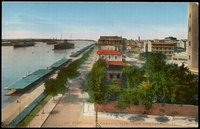 Lot 55:Egypt: Multicoloured PPC 'Port-Said general view town and canal'.