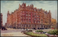 Lot 101:England: Multi-coloured PPC 'Midland Hotel Manchester' a Tucks artist card by Charles E Flower.