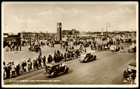 Lot 76 [1 of 2]:Great Britain: Black & white PPC 'Clock Tower and Promenade, Rhyl.' real photo.