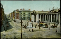 Lot 485:Ireland: Multicoloured PPC 'Bank of Ireland, Dublin' with tram in foreground.