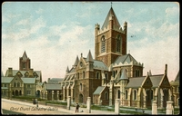 Lot 515 [1 of 2]:Ireland: Multicoloured PPC 'Christ Church Cathedral Dublin', used.