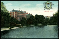Lot 86:Ireland: Multicoloured PPC 'St. Stephens Green & Shelbourne Hotel, Dublin.'.