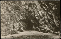 Lot 605:Ireland: Black & white PPC 'Sandy Cave, The Gobbins, Islandmagee'.