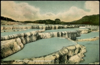 Lot 70:New Zealand: Multicoloured PPC 'The White Terrace Lake, Rotomahana, Rotorua, NZ'.