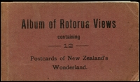 Lot 79:New Zealand: Black & white 12 cards in 'Rotorua Views' album with glassine interleaving some seperation and few tone spots but a rare survivor produced by D Gardner Fenton and Hinemosa Streets Rotorua.