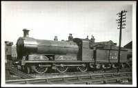 Lot 83:Railways: Black & white PPC Engine and tender 2418 for London and North Eastern Railway, real photo.