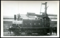 Lot 84:Railways: Black & white PPC Engine and tender for London and North Eastern Railway, real photo.