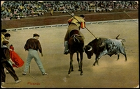 Lot 669:Spain: Multicoloured PPC 'Picando' a Spanish bullfighting scene.