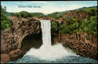 Lot 583:USA: Multicoloured PPC 'Rainbow Falls, Hawaii'.