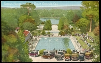 Lot 101:United States of America: Multicoloured PPC 'Roman Plunge, Hotel Del Monte grounds, Cal.'.