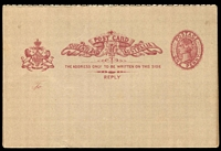 Lot 1648:1889-91 QV Oval Sideface HG #7 1d + 1d on drab stock.