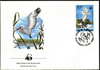 Lot 4358 [2 of 5]:1984 WWF Dalmatian Pelican SG #4899-902 set ** plus set tied to illustrated FDC, unaddressed.