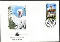 Lot 4358 [3 of 5]:1984 WWF Dalmatian Pelican SG #4899-902 set ** plus set tied to illustrated FDC, unaddressed.