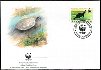 Lot 4426 [2 of 5]:1996 European Pond Tortoise SG #279-82 set **, plus set tied to illustrated FDCs, unaddressed.