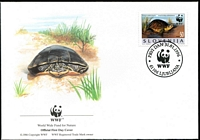 Lot 4426 [3 of 5]:1996 European Pond Tortoise SG #279-82 set **, plus set tied to illustrated FDCs, unaddressed.