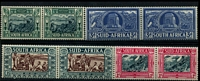 Lot 4443:1938 Voortrekker Memorial Fund SG #76-9 set in bi-lingual pairs.