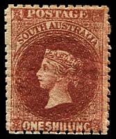 Lot 1695:1868-79 Wmk Large Star Perf 11½-12½ SG #82 1/- dark red-brown.