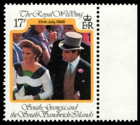 Lot 4590 [3 of 3]:1986 Royal Wedding Andrew and Sarah SG #158-60 set. (3)