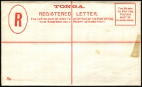 Lot 25969 [1 of 2]:1892 HG #4 4d red on white, some adhesion on front at left and on back flap o/wise fine.
