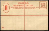 Lot 25970 [1 of 2]:1893 HG #8 4d red on thick pale buff, minor adhesion to back o/wise fine.