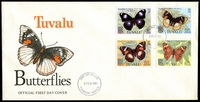 Lot 4252:1981 Butterflies illustrated FDC with set tied by Funfuti cds 3 FEB 1981, unaddressed.