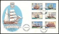 Lot 4253:1981 Ships illustrated FDC with set tied by Funafuti cds 13 MAY 1981, unaddressed.
