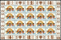 Lot 26194 [1 of 4]:1979 Year of the Child sets for New York and Geneva in complete sheetlets of twenty, attactive. (80)