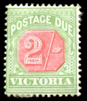 Lot 11687:1895 -6 Colours Changed SG #D19 2/- pale red & yellowish green.