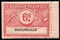 Lot 1882:1934 Eighth Series Third Issue IPC #3.1465 6d carmine on rose issued for Bairnsdale