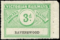 Lot 1838:1934 Third Issue Wing Series 3d Die II Emerald on white with grey pattern issued for Ravenswood Rated S/R1.