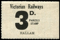 Lot 2093:1953-58 Tenth Series 3d black on white issued for Hallam.