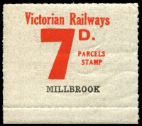 Lot 2095:1953-58 Tenth Series 7d red on white issued for Millbrook.