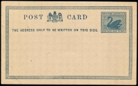 Lot 3130:1879 PSSA #PC2 1d blue on white.