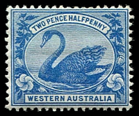 Lot 2971:1898-1907 Wmk W Crown A SG #114 2½d blue.