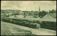 Lot 3058:Albany: Sepia PPC 'Albany from Railway Bridge', unused.  PO 14/10/1834.
