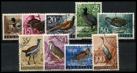 Lot 4294:1958 Birds set Mi 842-50. (9)