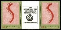 Lot 589 [1 of 4]:1993 Aboriginal Aust set in gutter pairs. (8)